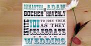 festival poster wedding invitation