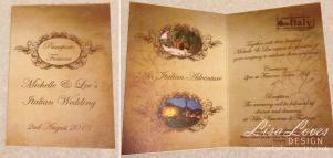 Rustic Passport Wedding Invitation