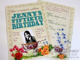 English Garden Party Birthday Invitation