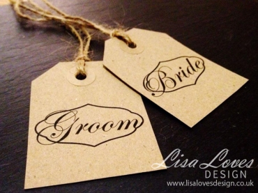 Vintage Luggage Label Wedding Place Cards