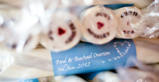 brighton rock wedding favour