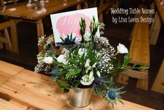 Table Name Cards
