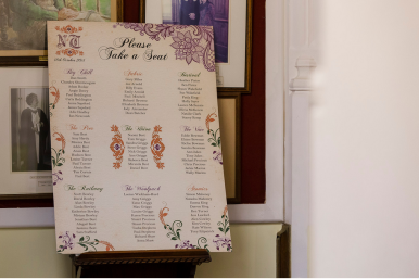 Rustic Wedding Table Plan